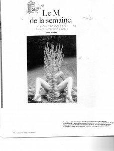 Autophotographie de Féline Harfang publiée dans le Magazine Le Monde