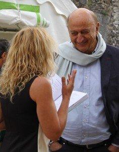 Féline Harfang lit ses poèmes à Pierre Bonte à Gargilesse le 25 septembre 2016