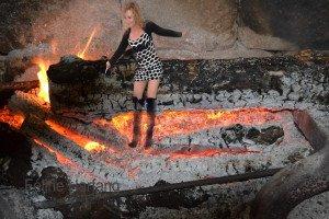 féline dans le feu de châteaubrun