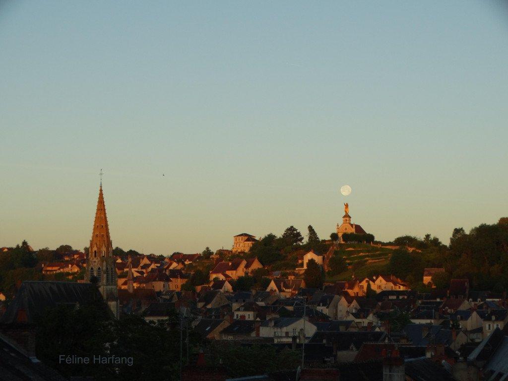 pleine lune sur argenton 10 juin 201 PHOTO féline harfang