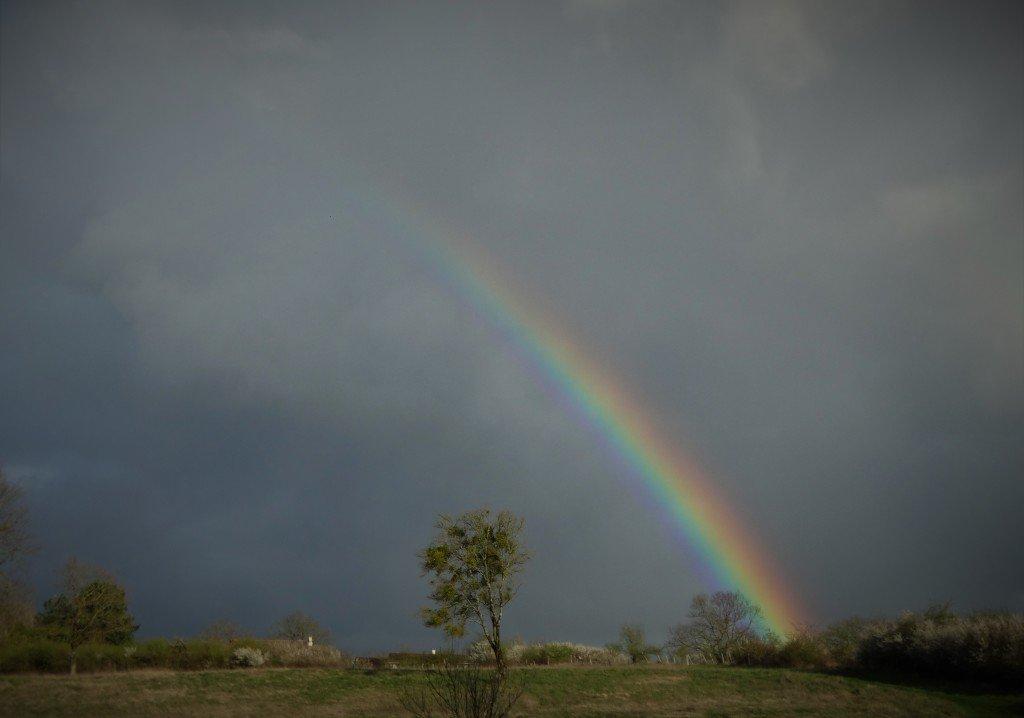 arc en ciel au dessus d'argenton sur creuse le 4