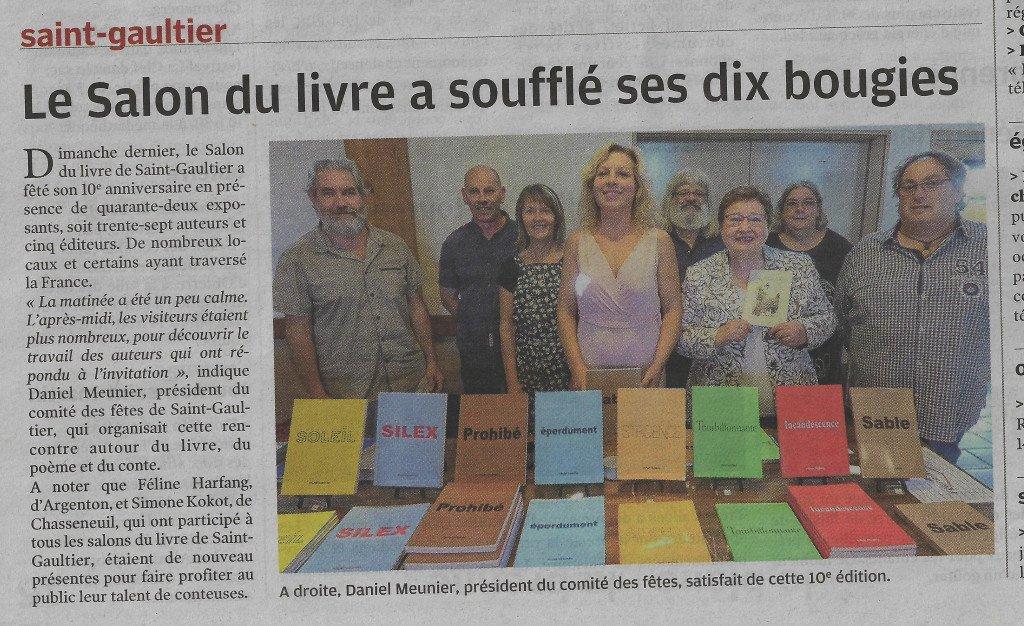 salon du livre st gaultier 2018